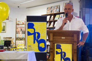 Andrew Daddo couldn't resist a few jokes while launching Bro